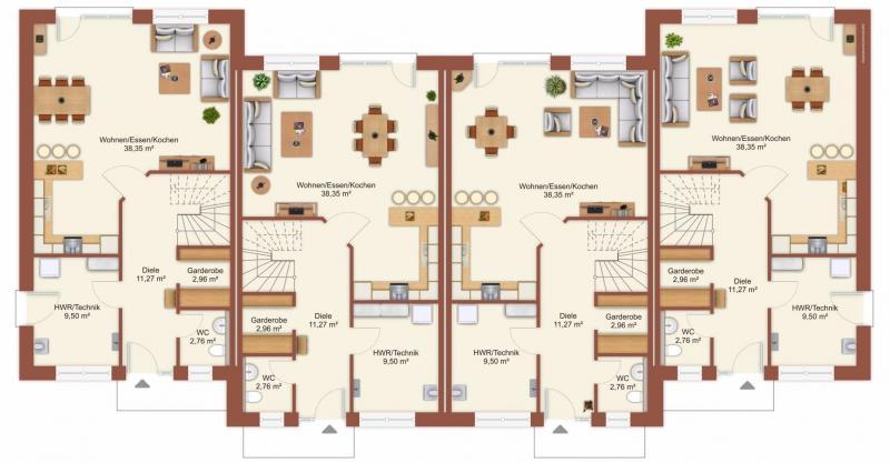 Grundriss: Grundrissskizze Erdgeschoss