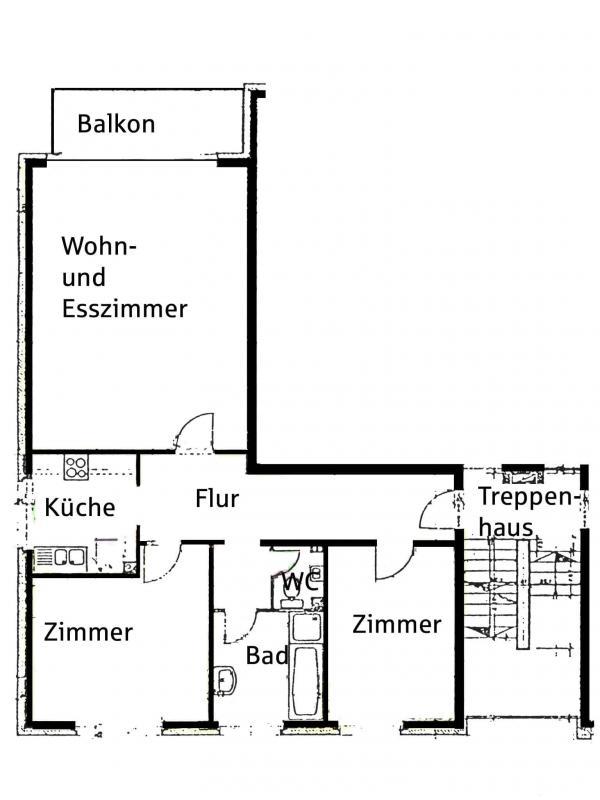 Grundriss: Grundriss Wohnung